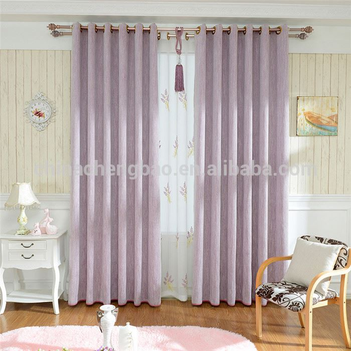 China supplier thick chenille fabrics drapery for window