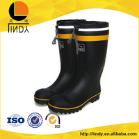 Fashion straight tube adjustable elastic leather rain boots for man*kids