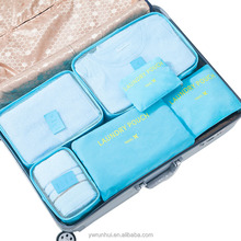 6pcs/set Women Men Travel Bag Waterproof Packing Cubes Luggage Clothes Tidy Sorting Pouch Portable Duffle Bag Organizers