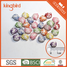 Wholesale Colorful Acrylic beads with hello Kitty pattern