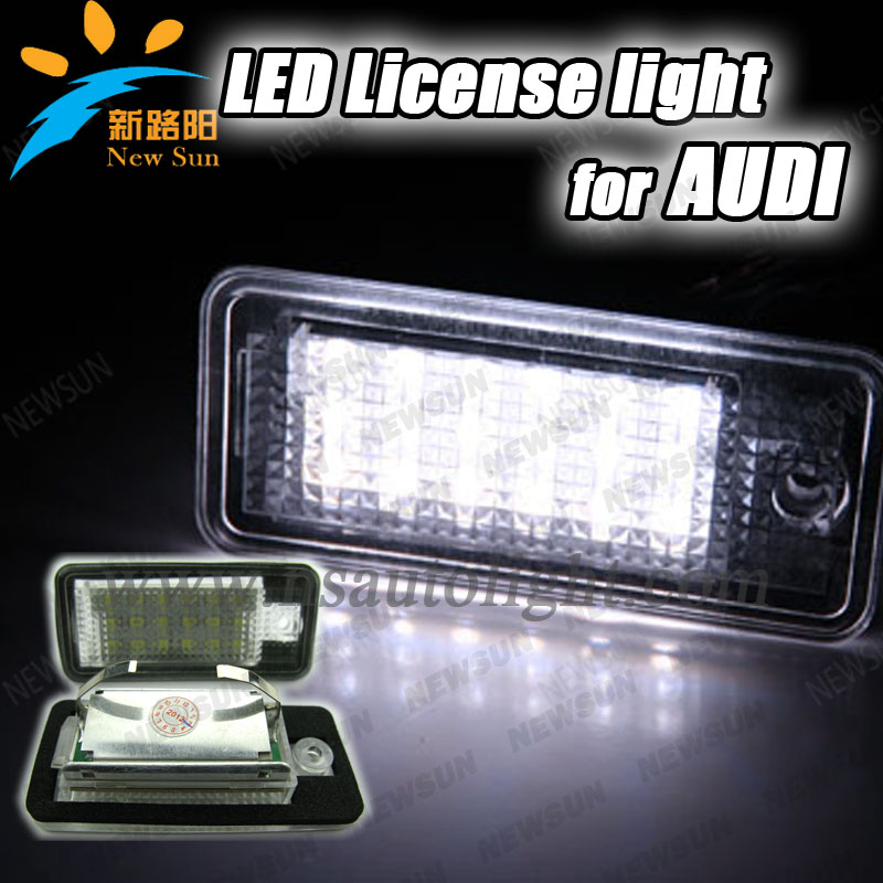 7000K Super white Error Free Led License Plate Light led number plate light For Audi A3/S3 A3 A4 A6 A8 Q7 Avant Cabriolet