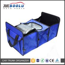 Foldable 3-Compartment Car Trunk Storage Box