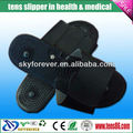 black physical therapy electronic foot massage slipper for promote blood circultaion