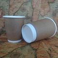 Logo printed disposable insulated double wall paper coffee cups