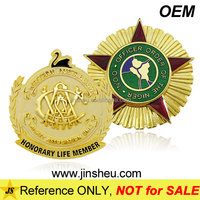 High Quality Emblem Custom Casting Die Struck Metal Gold Lapel Pin