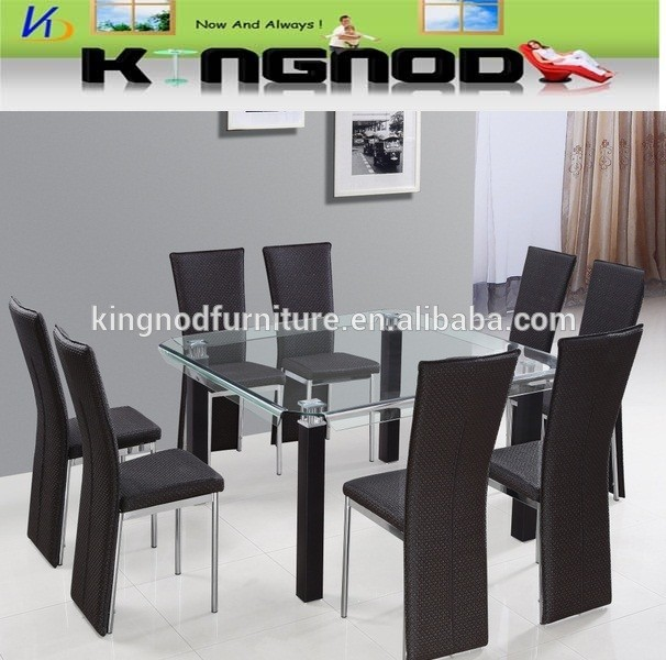 Wholesale factory supply for big family 1+8 dining table set