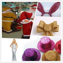 100 polyester Sponge Lurex Metallic Yarn Glitter Fabric For Christmas