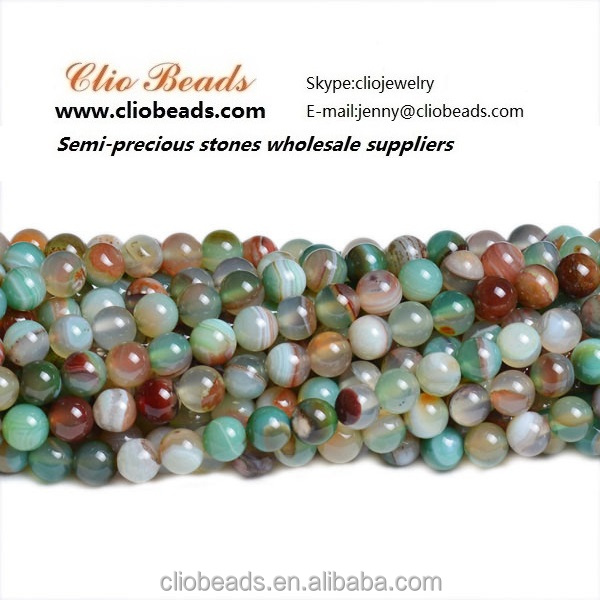 The newest semi gemstoneCB36922 Natural Striped Agate Round Beads, Dyed Color