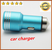2016 Stainless stell 12v car battery charger output 5V 3.1A dual usb car charger