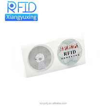 Custom printing HF RFID tag with sticker for logistic tracking