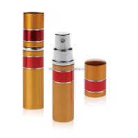 5ml travel style oxidation aluminum perfume atomizer, refill perfume atomizer spray bottle