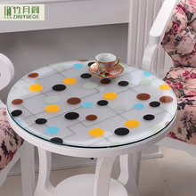 SGS Oem Professional Anti-hot Dining Creative Decorative Film Waterproof Clear Pvc Plastic Round Table Cloth