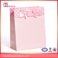 Gift wrapping paper storage bags Baby birthday favors paper bag with bow