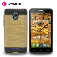 IVYMAX bulk sale protective dual layer phone case for Alcatel one touch fierce4