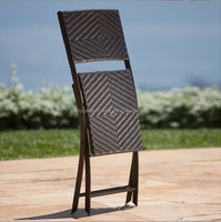 foldable rattan chair