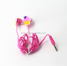 Top sale special design mini-cute portable 3.5mm jack silicone pattern wired earphones for promotion /Child