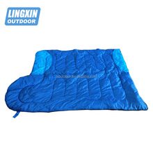 Lightweight nylon mummy down sleeping bag with polyester liner