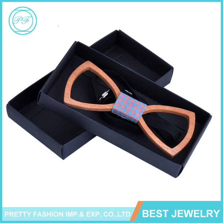 WB-03 Men Handmade New Wedding Gift Natural Men's Wooden Bow Ties