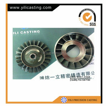 vacuum casting rc jet engine turbine wheel kj66
