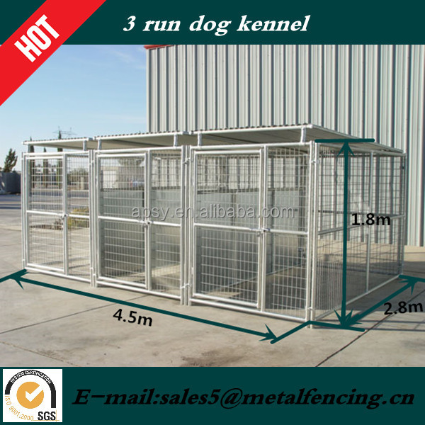 Hot sell metal tube dog play pen with roof