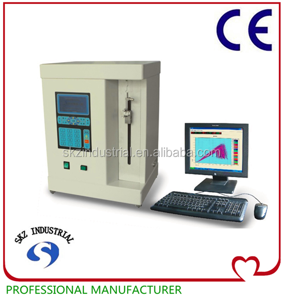 PC type Pneumatic clamping fibres tensile strength and elongation test machine