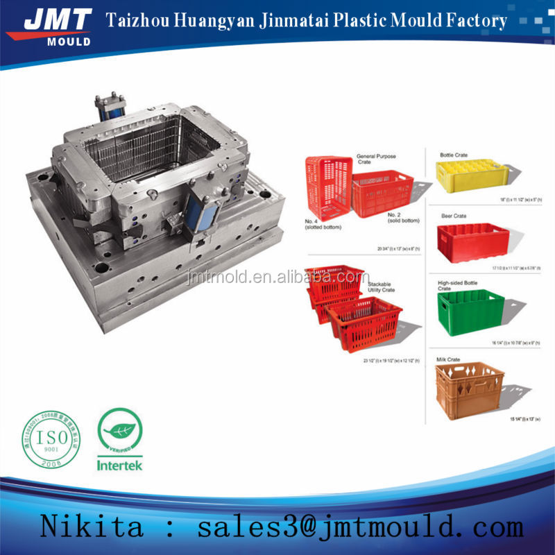 China plastic injection turnover box mold and die