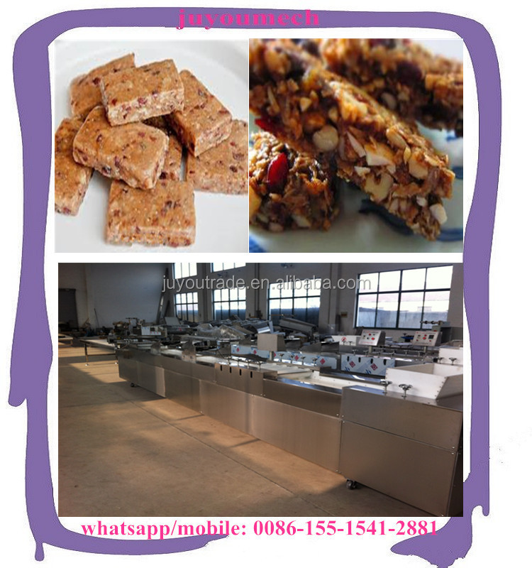 Industriall protein engergy bar pressing cutting machine peanut cereal candy bar making machine
