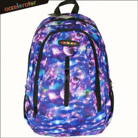 "many pockets 18"" galaxy glitter ladies fashion backpack bag sport bag out door pack"