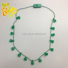 Party Favor Light Up Flashing Mini Christmas Tree Necklace