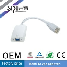 SIPU Factory direct sell vga to coaxial scart cable adapter