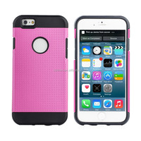Accepted small MOQ Dual Hybrid Colors Tpu+pc Cover Case For Iphone 6
