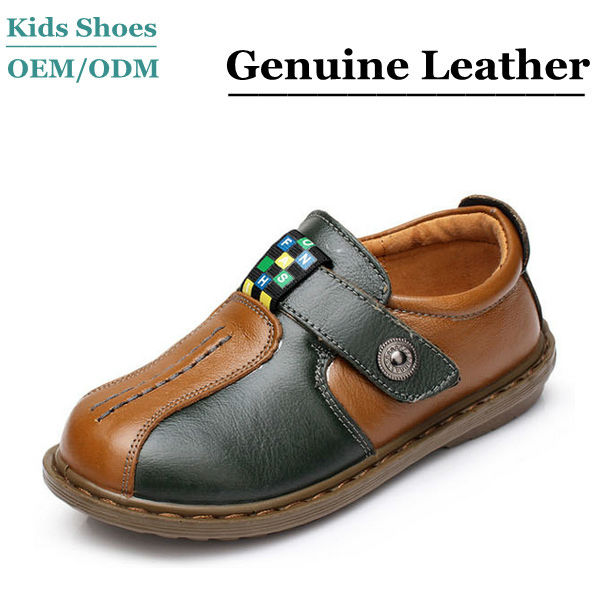 2014 Fashion boys leather casual shoes man boys buckle up simple business style shoes