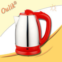 Red 1.8L Fast Boil Stainless Steel Electric Kettle