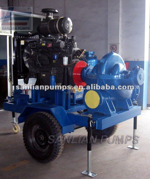 Trailer pump with diesel