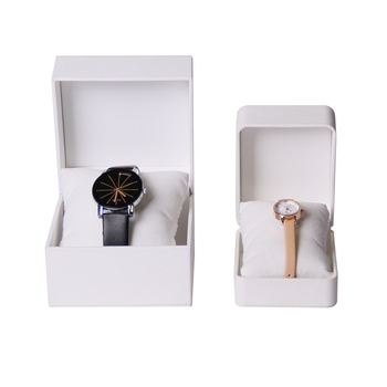 Custom logo white cheap his and hers jewelry watch gift box