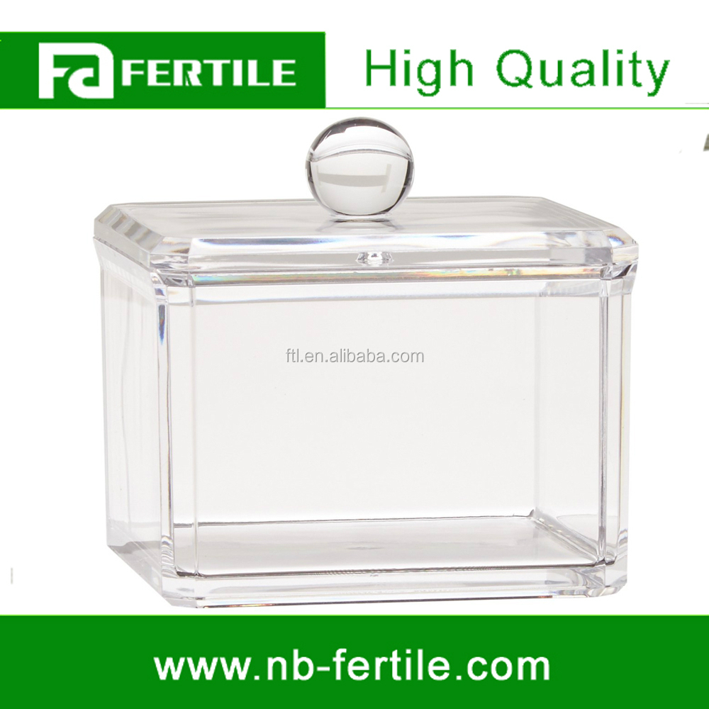 WFZ Square Acrylic Cotton Ball Holder