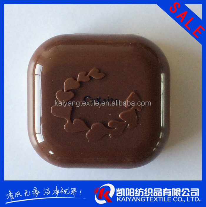 free sample chocolate color contact lens case small MOQ