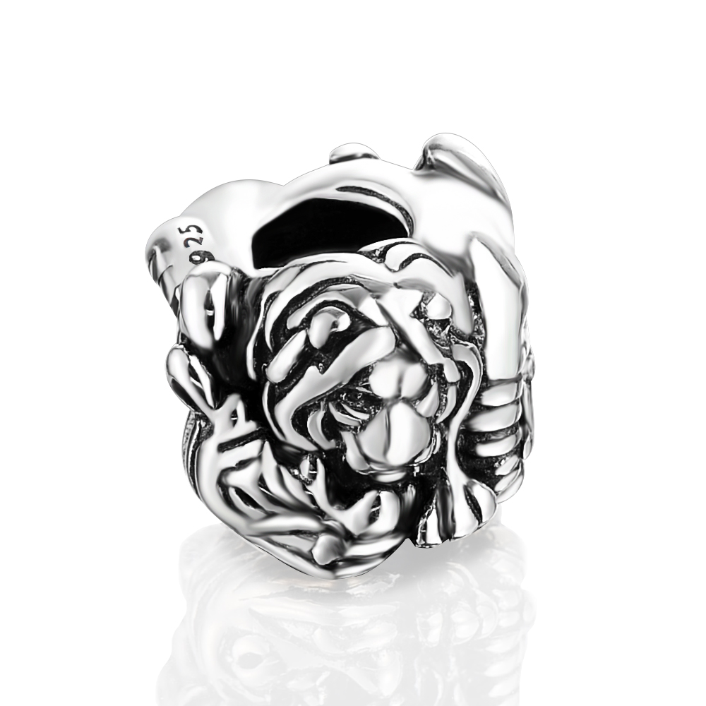 Lzeshine Antique Silver Plated Ancient Egypt Lion Animal Beads Fits For European Jewelry Bracelets Custom Wholesale PDMB0073