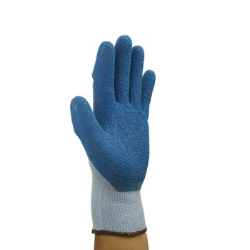 10G latex crinkle finish coated working gloves
