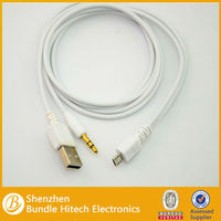 Micro usb splitter cable to 3.5mm audio cable