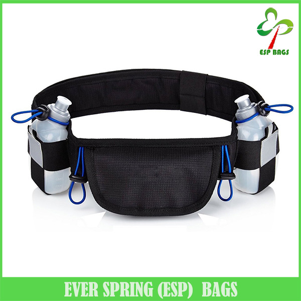 "Alibaba China 6.5"" pouch snug spandex hydration running belt with 2 BPA free bottles waist pack"