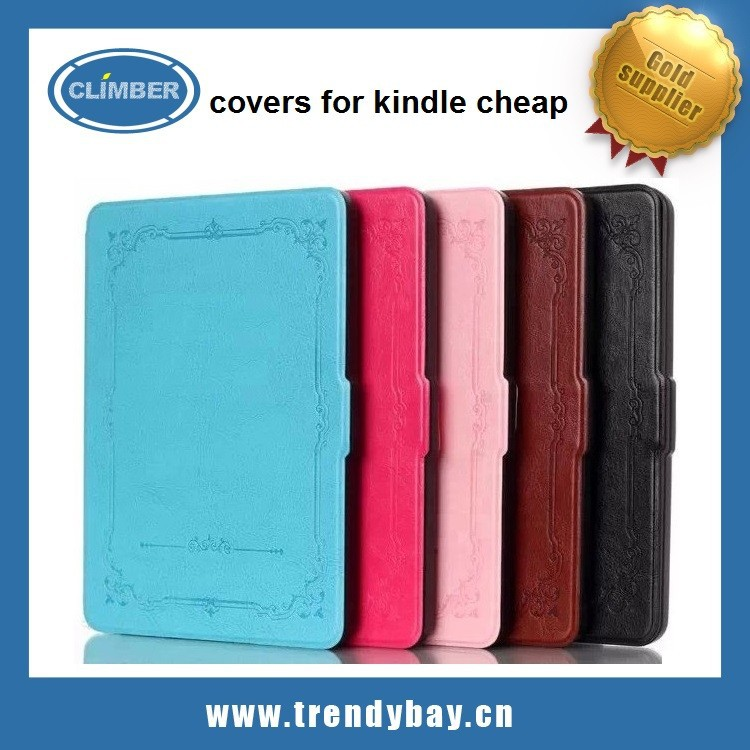 covers for kindle cheap with the thinnest and lightest leather cover for amazon kindle fire hd6