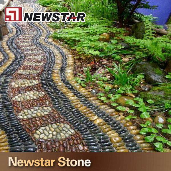 China polished natural landscaping pebble stone