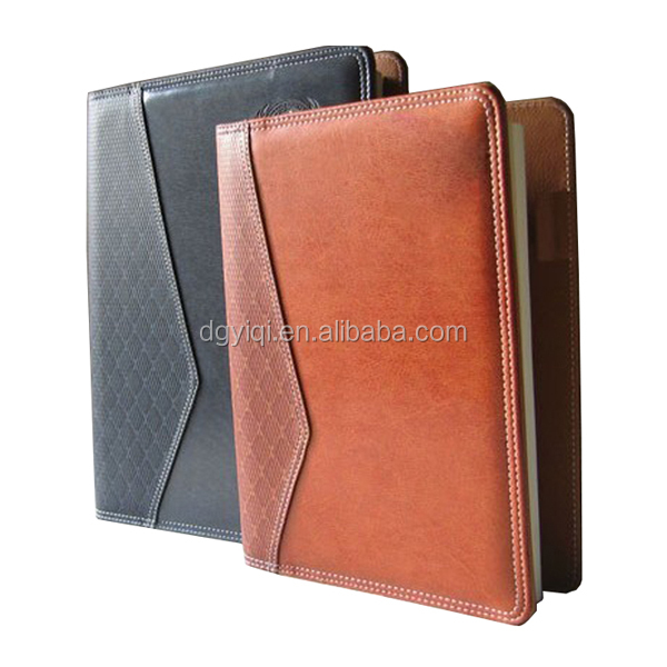 LN369 leather executive notebook leather notebook cover leather notebook