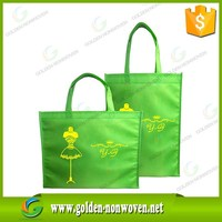 Apple Green color 80gsm pp nonwoven shopping bag, OEM and ODM non woven bag made in quanzhou China with competitive price