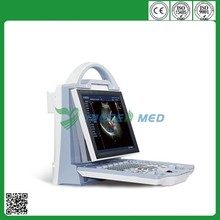 YSB-DU12 color doppler 10.4 inch LCD full screen display portable cardiology ultrasound machine