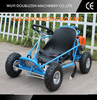 Low price 43cc single seats go kart