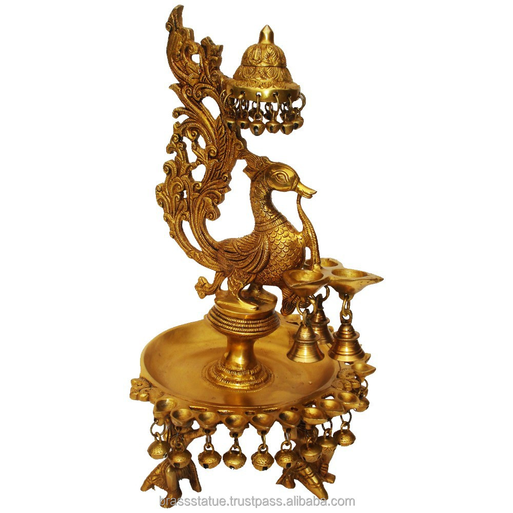 Home Decoration Brass Bird oil lamp with bells
