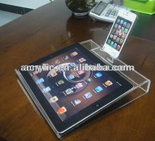 fantastic Top class clear acrylic tabletop display stand for ipad and iphone