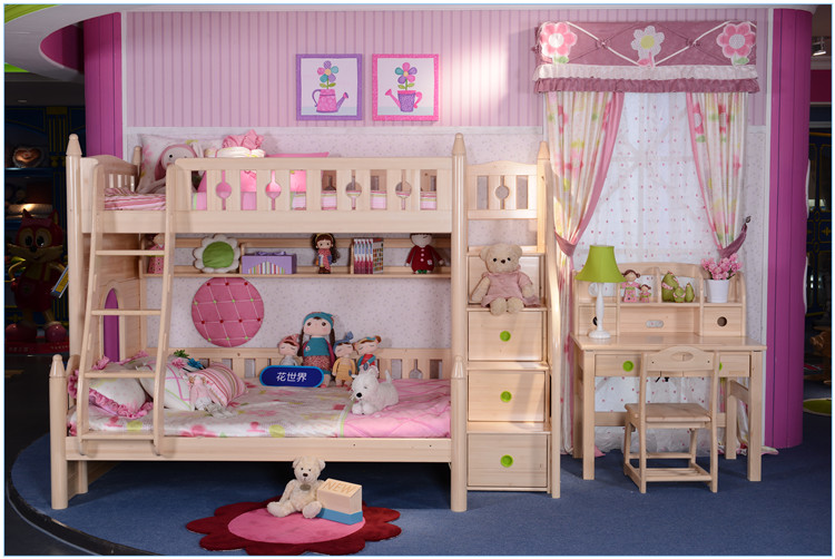 twin over twin bunk bed with storage stair for kids bed